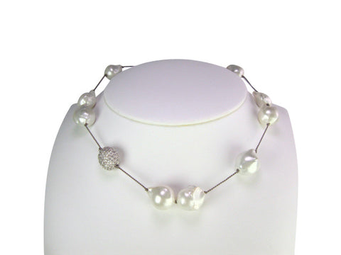 n4630 necklace freshwater baroque pearls