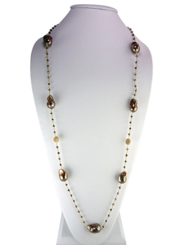 "n4744-4 necklace 36"" freshwater baroque pearls"