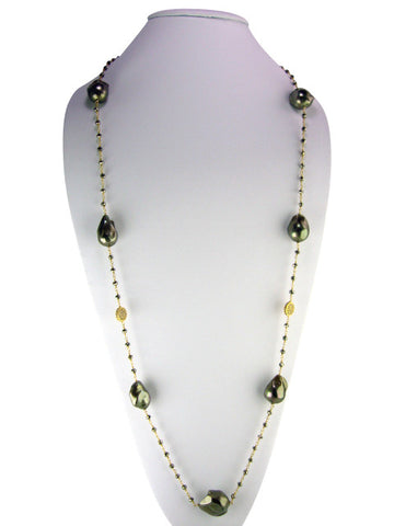 "n4744 necklace 36"" freshwater baroque pearls"
