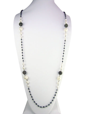 "N4752-2 necklace 36"" graduated pearls"