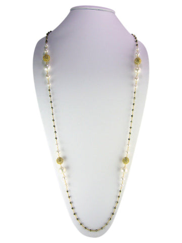 "N4752 necklace 36"" graduated pearls"
