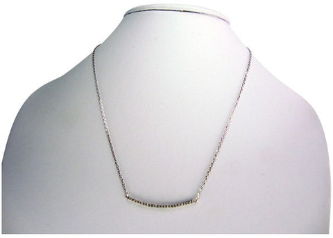 n4936 necklace pave' bar
