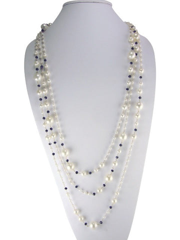 n4940 necklace mutli strand pearls