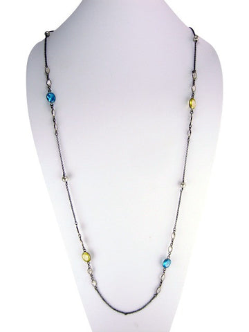 n4951-2 necklace oxidized and multicolor