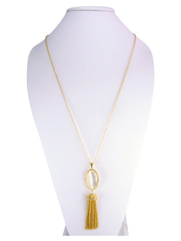 n5010 necklace mother of pearl tassle
