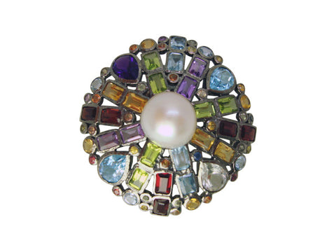 P628 multicolor pin oxidized