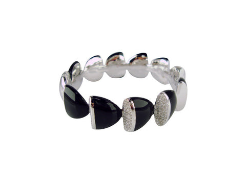 b2657 bracelet resin and cz