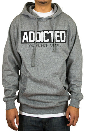 Soft Heather Grey Hooded Sweater - Powder High Apparel