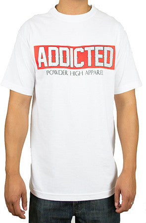 Addicted to Snowboarding and Skiing T-Shirt - Powder High Apparel
