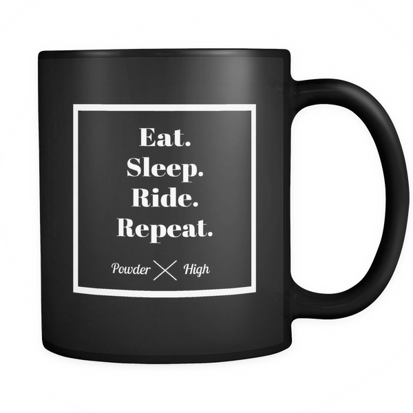 Eat. Sleep. Ride. Repeat. Coffee Mug