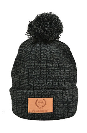 Black Pom Winter Beanie - Powder High Apparel