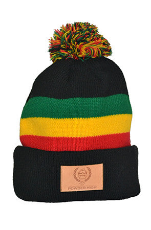 Rasta Pom Winter Beanie - Powder High Apparel