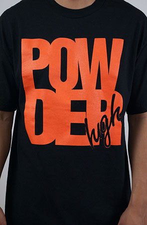 Black & Orange Men's T-Shirt - Powder High Apparel