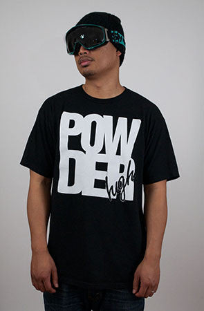 Black & White Men's T-Shirt - Powder High Apparel