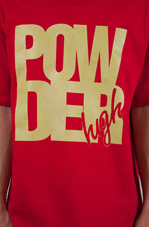 Red & Gold Men's T-Shirt - Powder High Apparel