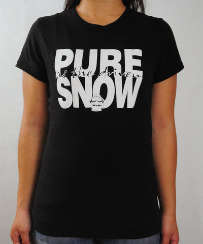 Pure Snow Black Women's T-Shirt