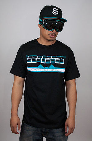 Get Lifted Men's Black Crewneck T-Shirt - Powder High Apparel