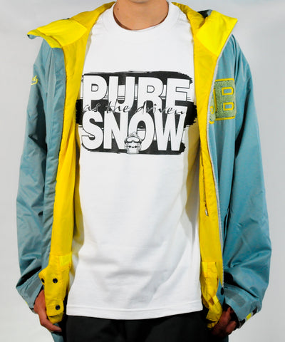 Pure Snow White Crew Neck T-Shirt - Powder High Apparel