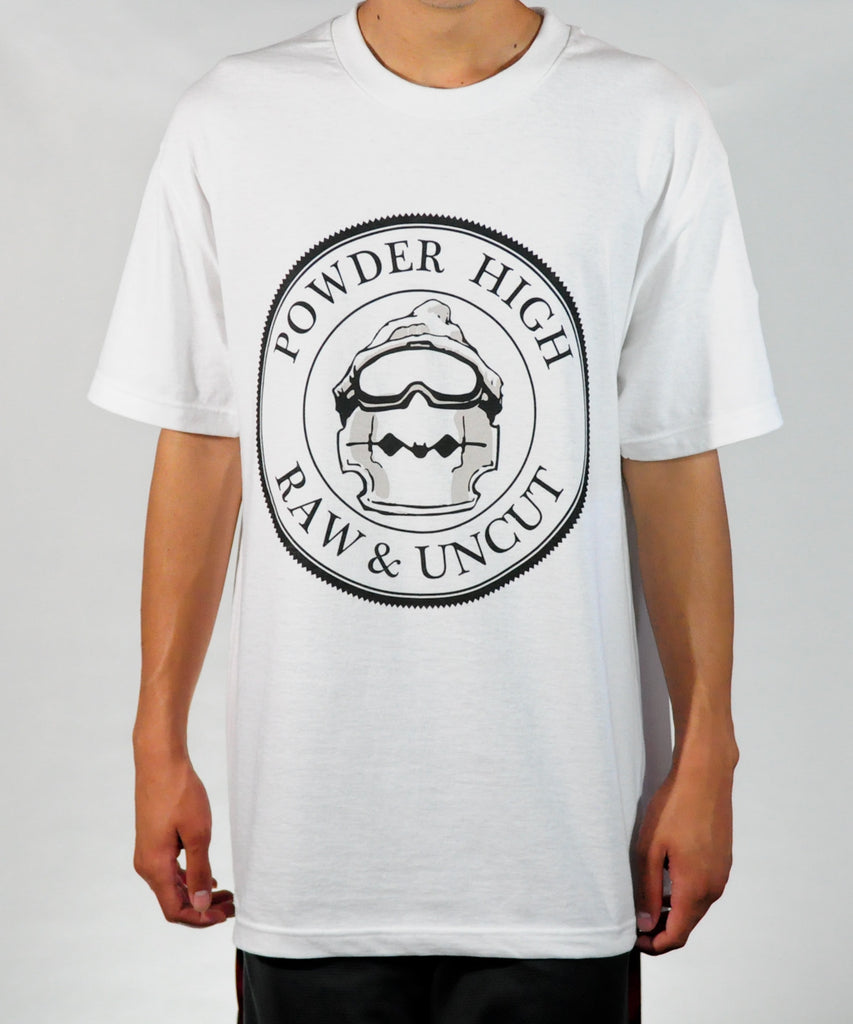 Official Seal Men's White Tee Shirt - Powder High Apparel