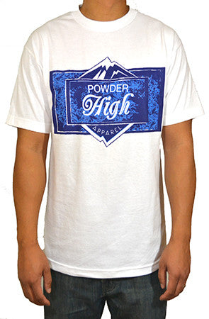 White Ice Block Men's T-Shirt - Powder High Apparel