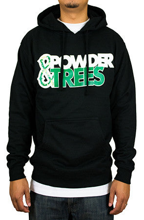 Powder & Trees Black Sweater Hoodie - Powder High Apparel