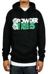 Powder & Trees Black Hoodie Sweater