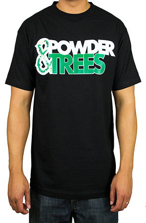 Black Snowboarding Skiing Brand T-Shirt - Powder High Apparel