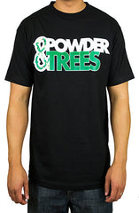 Powder & Trees Black T-Shirt