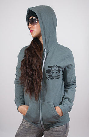 Raw & Uncut Women's Grey Zip Up Sweater
