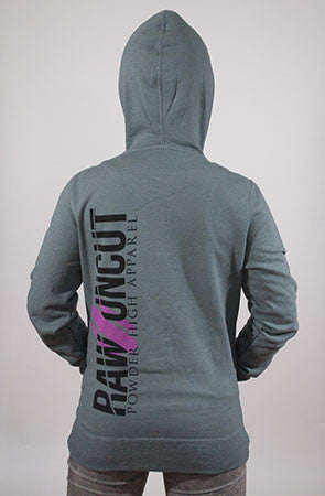 Raw & Uncut Women's Grey Hooded Sweater