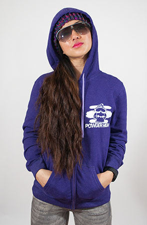 Raw & Uncut Women's Purple Hooded Sweater