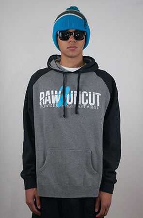 Raw & Uncut Grey Raglan Hoodie Sweater