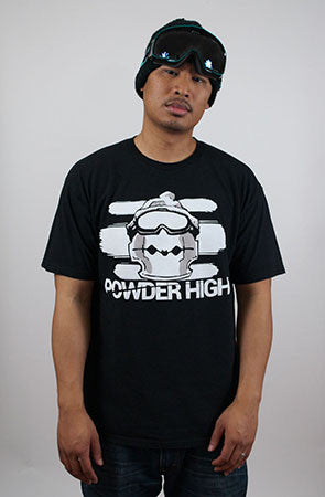 Razor Rawmon Black Men's Crew Neck T-Shirt - Powder High Apparel
