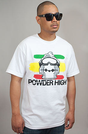 Rasta Razor Rawmon Men's Crew Neck T-Shirt - Powder High Apparel
