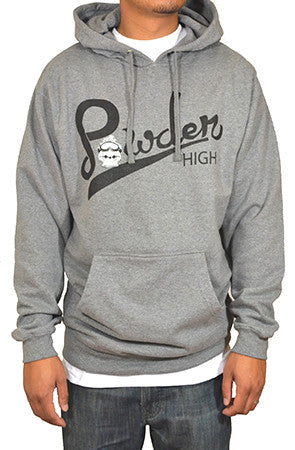Grey Snowboarder's Sweater Hoodie - Powder High Apparel