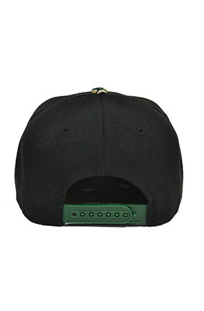 Green Snapback Baseball Hat - Powder High Apparel