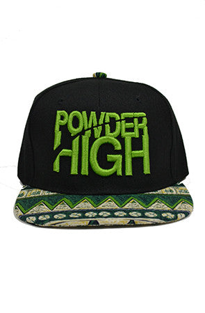 Green Aztec Print Snapback Baseball Hat - Powder High Apparel