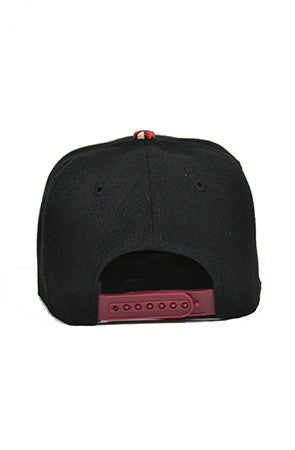 Maroon Snapback Baseball Hat - Powder High Apparel