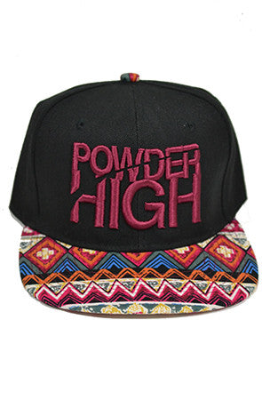 Maroon Aztec Print Snapback Baseball Hat - Powder High Apparel