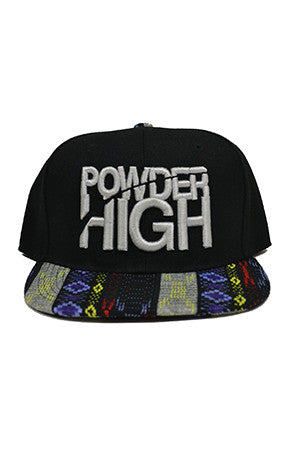 Silver Print Aztec Snapback Baseball Hat - Powder High Apparel