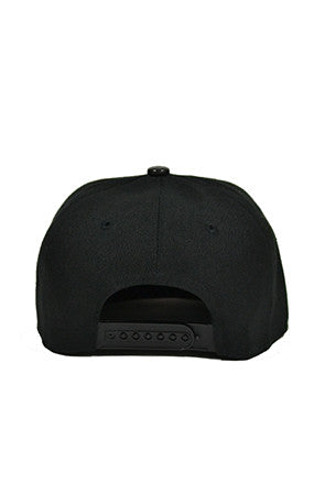 Black Stacked Snapback Baseball Hats - Powder High Apparel