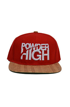 Snapback Red Baseball Hat - Powder High Apparel