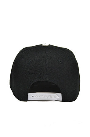 Black and Silver Snapback - Powder High Apparel