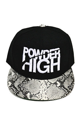 Snakeskin Stacked Snapback Baseball Hats - Powder High Apparel
