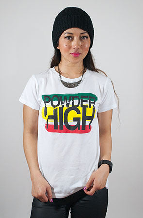 Stacked Women's Rasta T-Shirt - Powder High Apparel