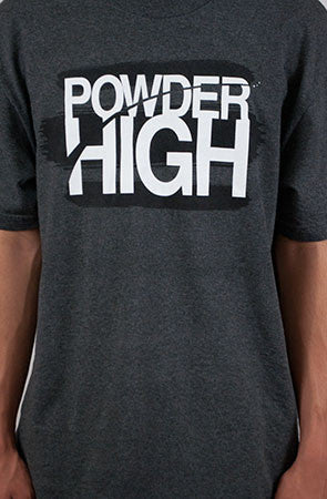 Stacked Grey Crewneck T-Shirt - Powder High Apparel
