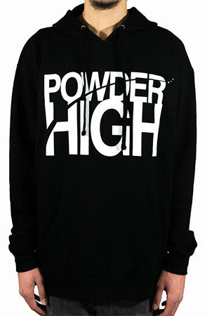 Stacked Black Hoodie Sweater - Powder High Apparel