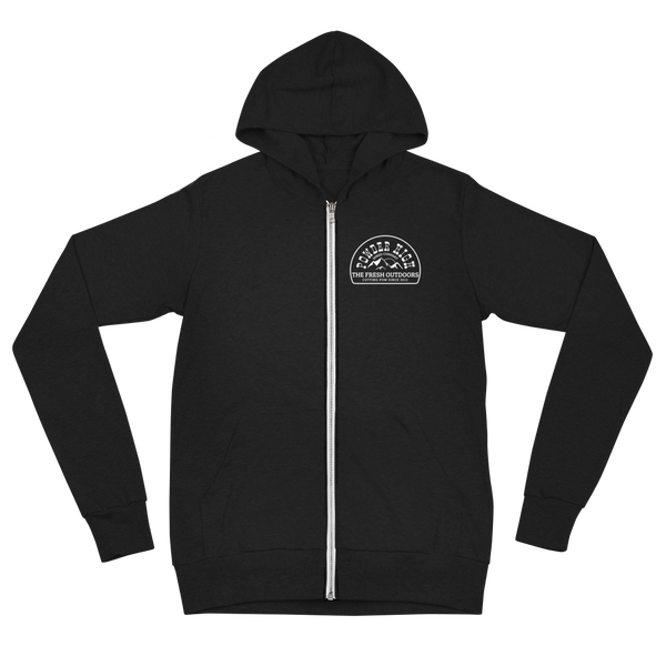 The Fresh Outdoors Unisex Zip Hoodie