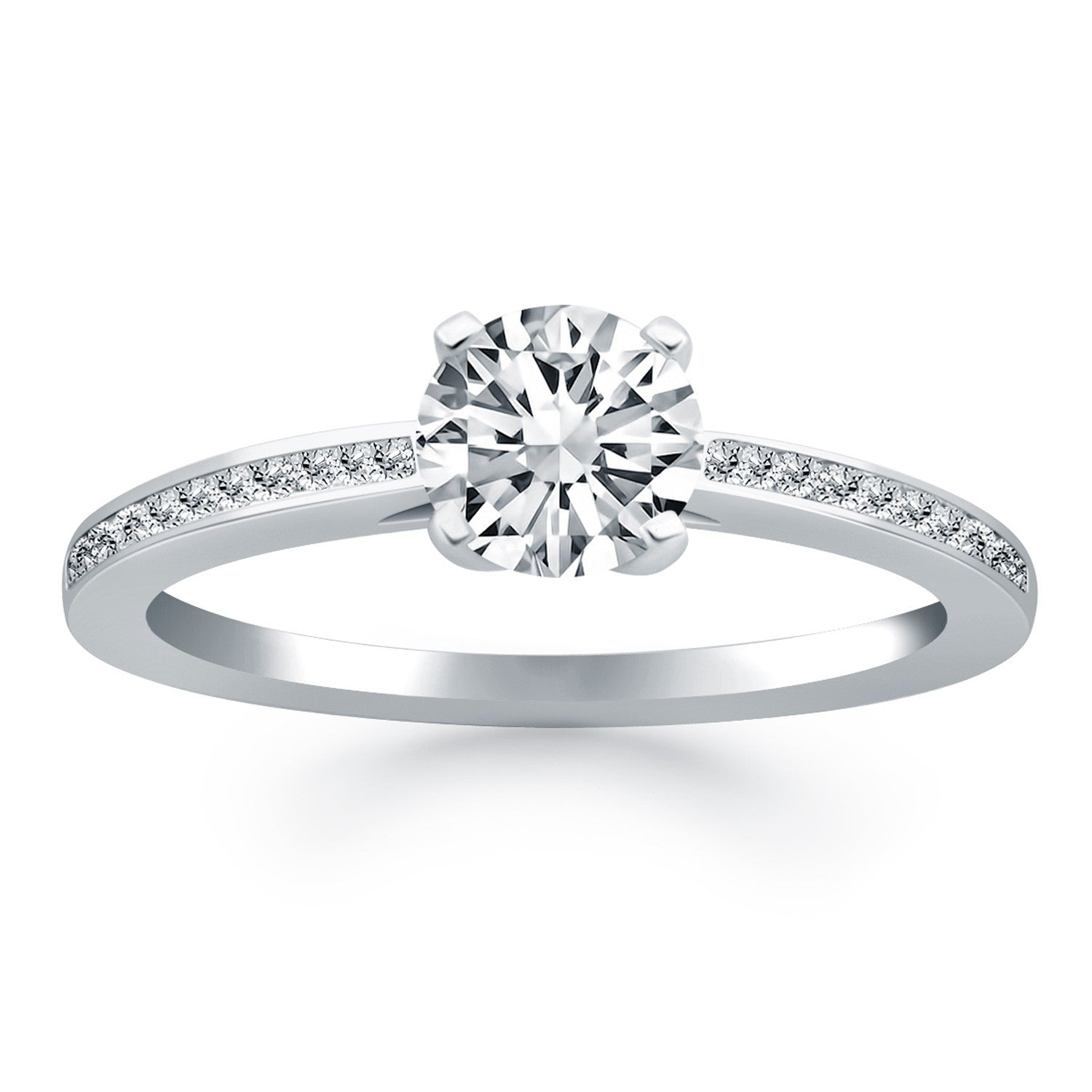 ring princess rings engagement cathedral whiteview solitaire cut