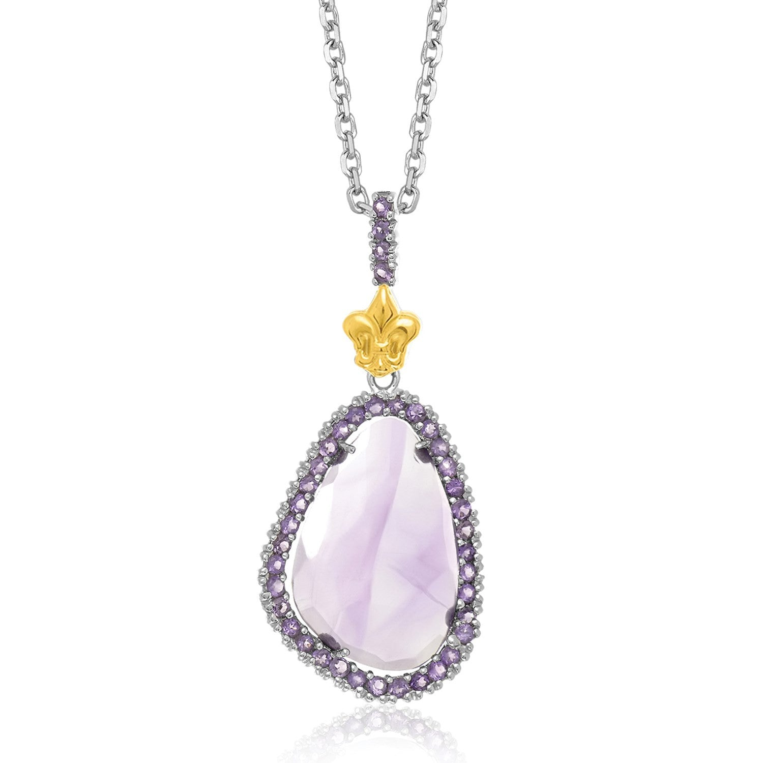 18k yellow gold sterling silver amethyst pendant riverbend diamonds 18k yellow gold sterling silver amethyst pendant cp86080 18 aloadofball Gallery